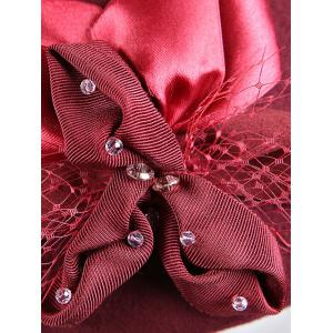 Stylish Bowknot Wool Beret - CLARET