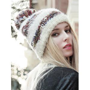 Stylish Ball Decorated Winter Knitted Hat -