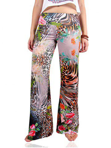 Shops Tropical Leopard Print Loose Exumas Palazzo Pants
