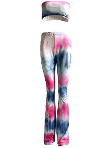Latest Colorized Padded Tube Top and High Waist Pants Suit For Women