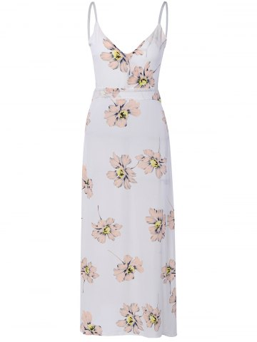 Affordable Sweet Open Back Floral Formal Maix Dress For Women