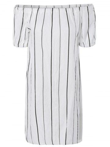 Outfits Casual Off-The-Shoulder Striped Dress For Women