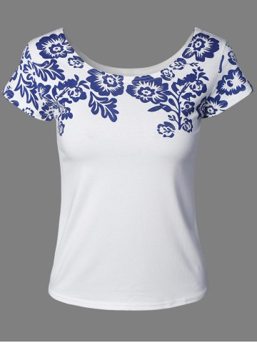 Shop Quiet Color Floral Pattern Tee