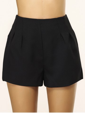Unique Simple Loose-Fitting Zippered Shorts