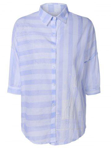 Unique Clean and Fresh Thick-Striped Shirt
