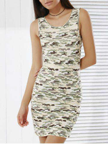 Outfits Women's Stylish Camouflage Print Skinny Tank Dress CAMOUFLAGE L