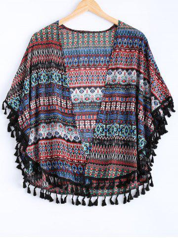 Buy Geometric Print Plunging Neck Cover Up