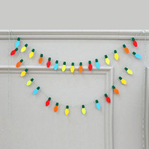 New Graceful Birthday Christmas Party Supplies Colorful Felt Bulb - COLORFUL  Mobile
