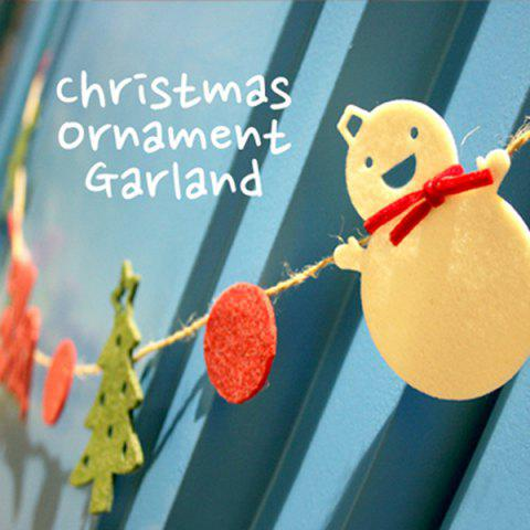 Shop Fashional Festival Decor Christmas Tree Snowman Letter Hanging Party Supplies - COLORFUL  Mobile