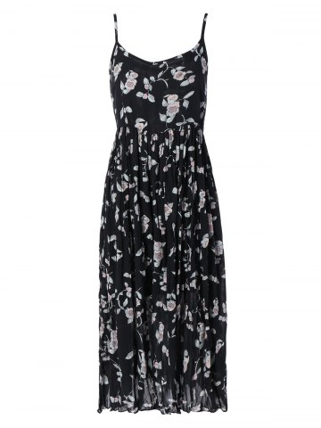 Affordable Spaghetti Strap Floral Print Cami Dress