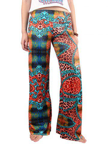 Outfit Chic Women's Hit Color Loose Exumas Pants