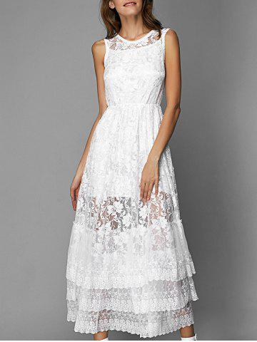 Shops Lace Tiered Long Prom Bridesmaid Dress