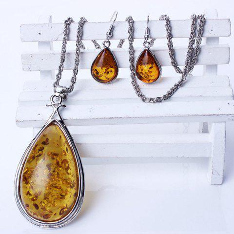 Store A Suit of Retro Faux Amber Jewelry Set