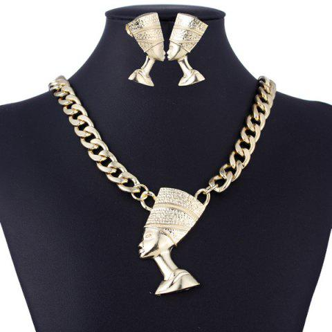 Shops Alloy Egyptian Pharaoh Necklace and Earrings