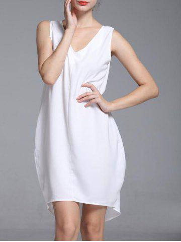 Discount Brief V-Neck Sleeveless High Low Dress For Women