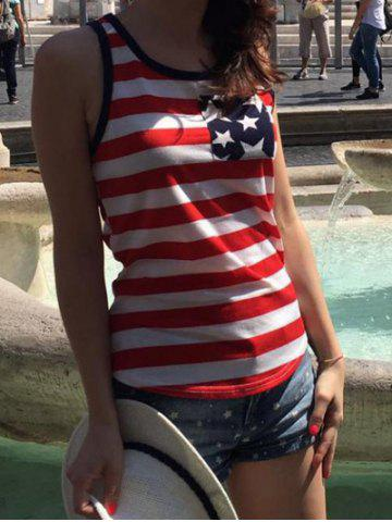 Chic USA Flag Print Patriotic Tank Top