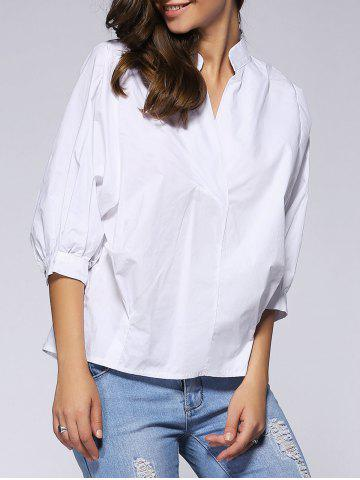 Best Refreshing 3/4 Sleeve Buttoned Loose-Fitting Women's Blouse