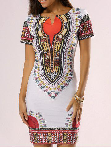 Best Ethnic Style Tribal Print Bodycon Dress