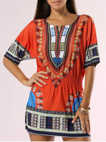 Store Bohemian Style Tribal Print Dress