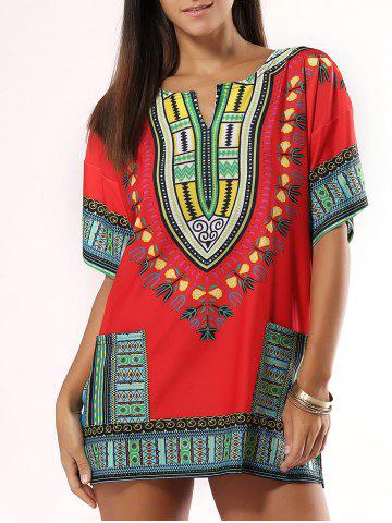 Outfits Bohemian Style Colorful Printed Dress
