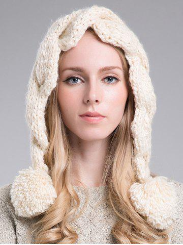Outfit Stylish Ball Embellished Faux Wool Hat