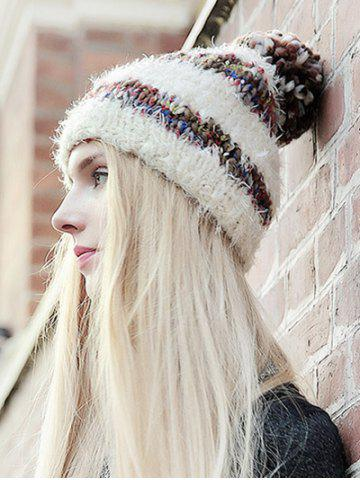 Best Stylish Ball Decorated Winter Knitted Hat