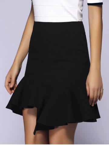 Trendy Charming High-Waisted Ruched Asymmetrical Women's Skirt