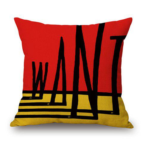 Geometry Letter Design Sofa Cushion Pillow Case - COLORMIX