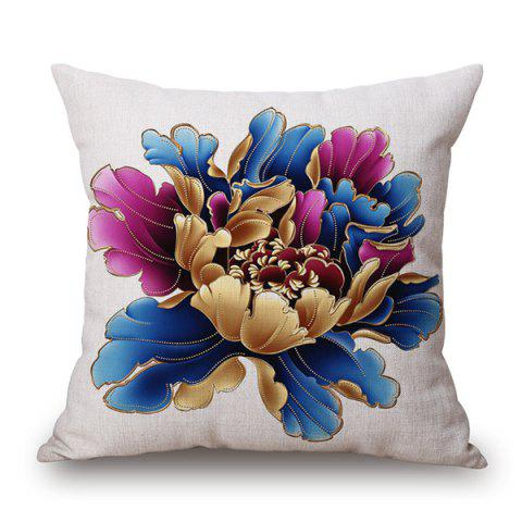 Store Chinese Style Peony Blossom Sofa Cushion Pillow Case