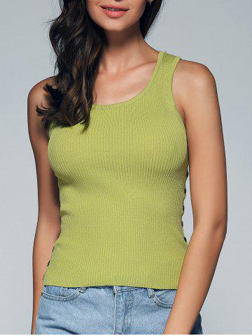 Buy Chic Sleeveless Buttoned Skinny Slimming Women's Knitwear