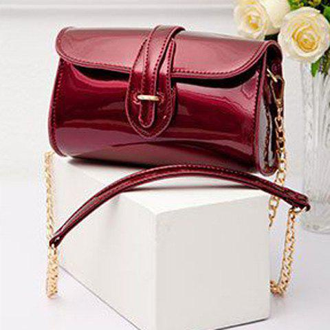 New Stylish Buckle and Chain Design Crossbody Bag For Women - RED  Mobile
