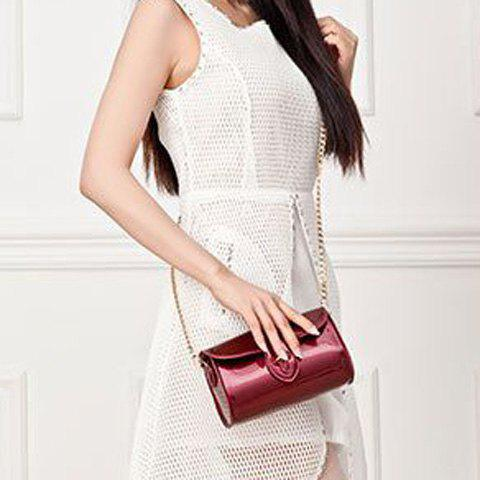 Outfits Stylish Buckle and Chain Design Crossbody Bag For Women - RED  Mobile