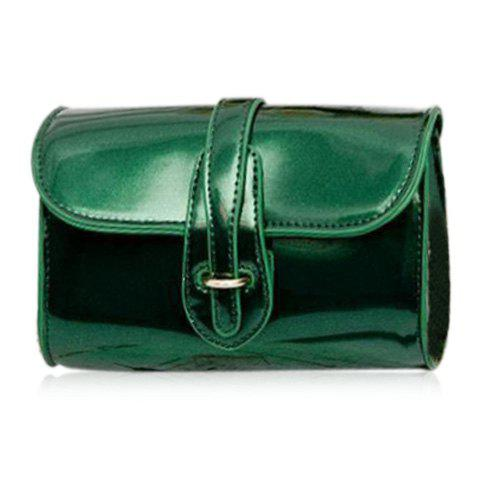 Latest Stylish Buckle and Chain Design Crossbody Bag For Women - GREEN  Mobile