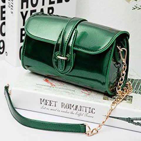 New Stylish Buckle and Chain Design Crossbody Bag For Women - GREEN  Mobile