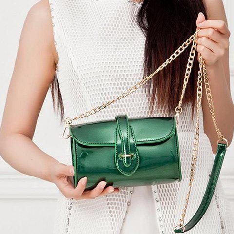 Outfits Stylish Buckle and Chain Design Crossbody Bag For Women - GREEN  Mobile
