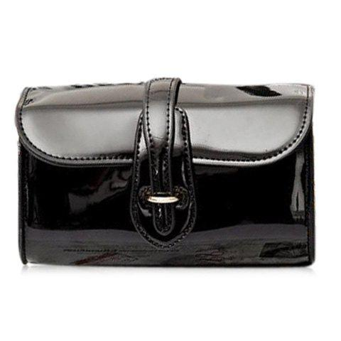 Outfits Stylish Buckle and Chain Design Crossbody Bag For Women - BLACK  Mobile