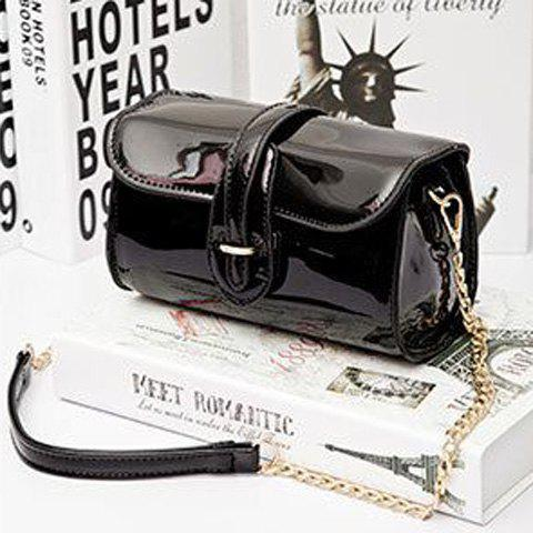 Buy Stylish Buckle and Chain Design Crossbody Bag For Women - BLACK  Mobile