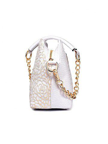 Fancy Graceful Lace and Rhinestones Design Shoulder Bag For Women - CHAMPAGNE  Mobile