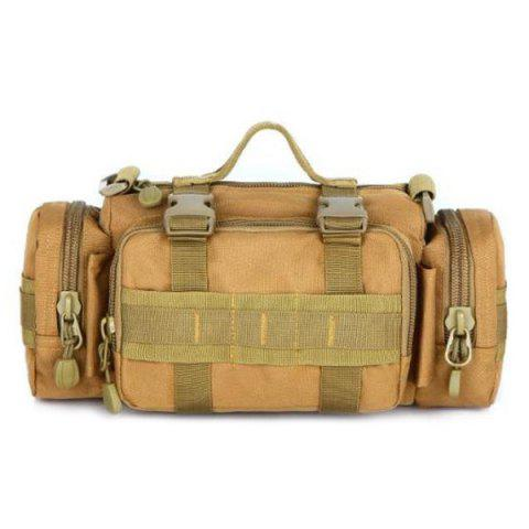 Latest Casual Solid Color and Double Pocket Design Messenger Bag For Men