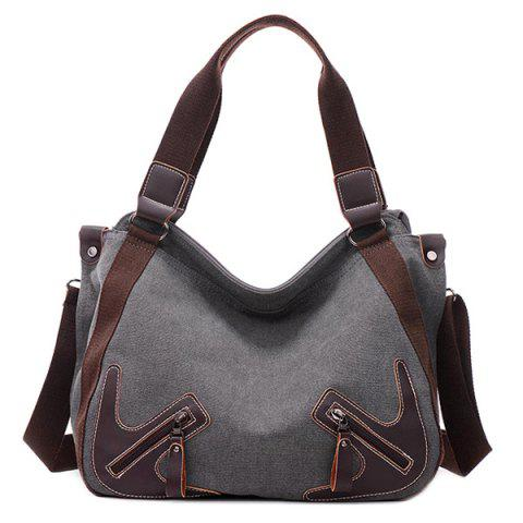 Fashion Casual Zippers and Splicing Design Shoulder Bag For Women