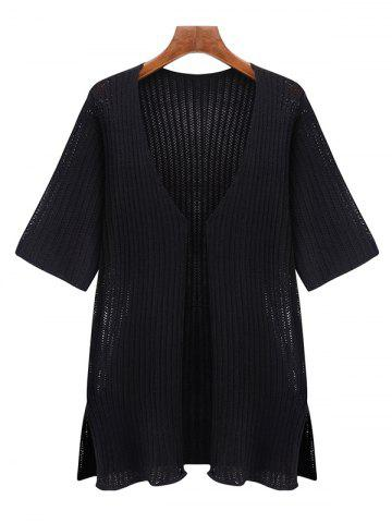 New Oversized Simple Pure Color Half Sleeve Cardigan