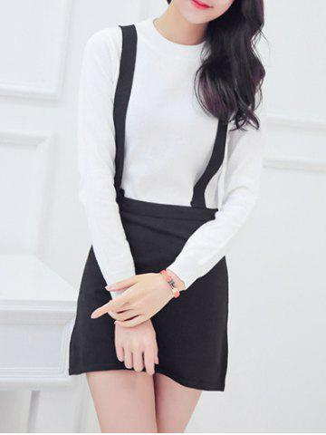 New Oversized Sweet Hit Color Faux Twinset Knitted Pencil Dress