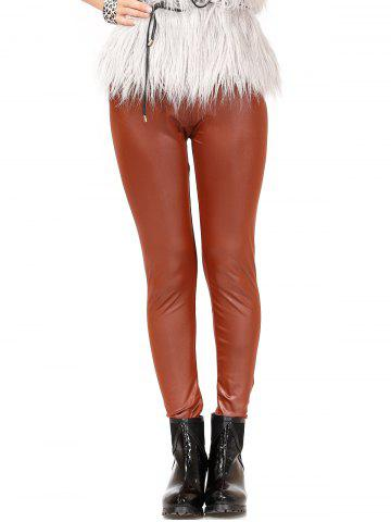 Store Chic High Waist Leather Leggings For Women