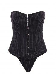 Striped Strapless Steel Boned Corset Top