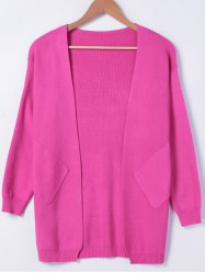 Simple Long Sleeves Pocket Design Cardigan -