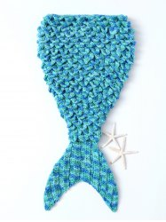 Hot Sale Mermaid Shape Blanket For Children - Blanc Et Vert