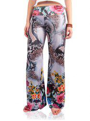 Stylish Women's Python Print Wide-Leg Exumas Pants