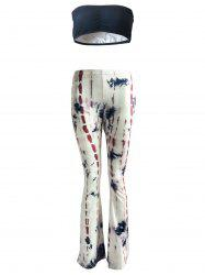 Fashionable Strapless Crop Top and Trumpet Pants Suit For Women -