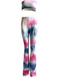 Colorized Padded Tube Top and High Waist Pants Suit For Women -