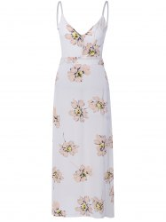 Sweet Open Back Floral Formal Maix Dress For Women -